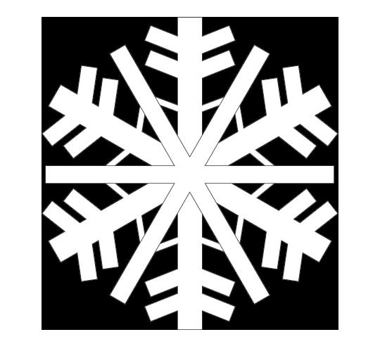 雪の結晶のぬりえ