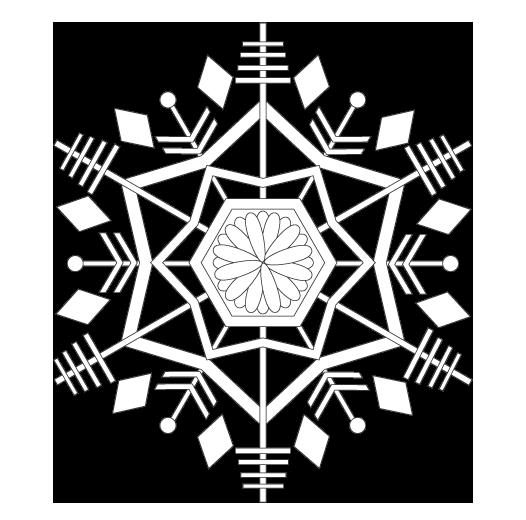雪の結晶のぬりえ02
