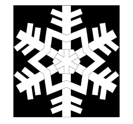 雪の結晶のぬりえ03