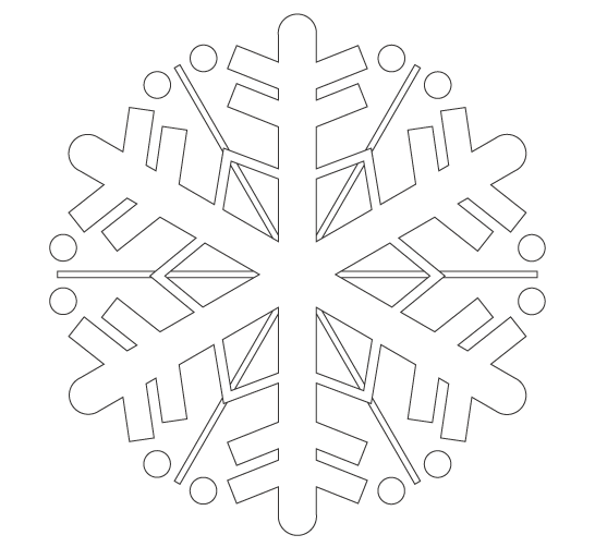 雪の結晶のぬりえ04