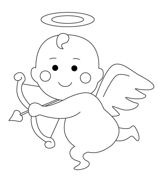 天使・エンジェルのぬりえ