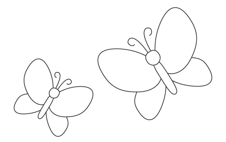 蝶々のぬりえ