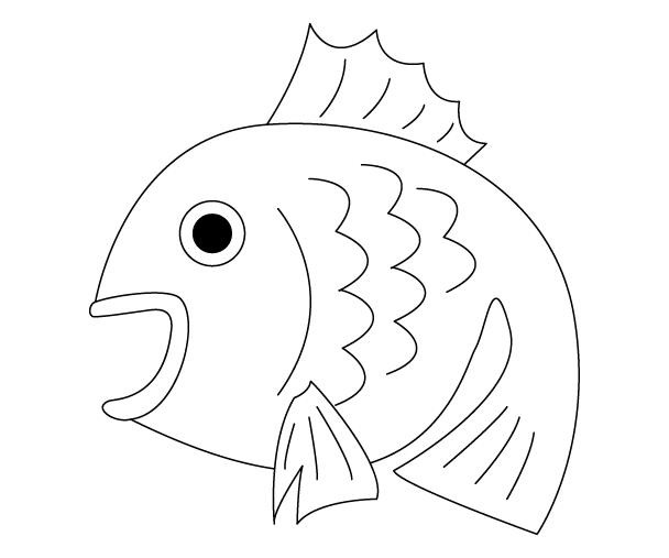 鯛(タイ)のぬりえ