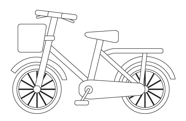 自転車のぬりえ