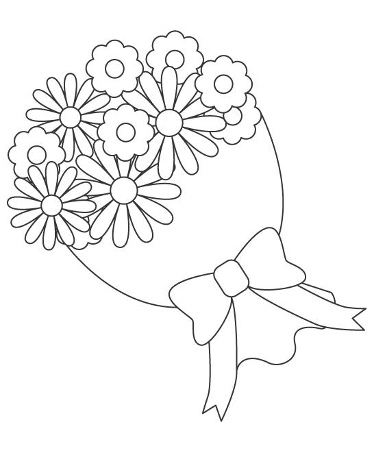 花束のぬりえ