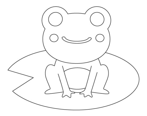 カエル(蛙)のぬりえ