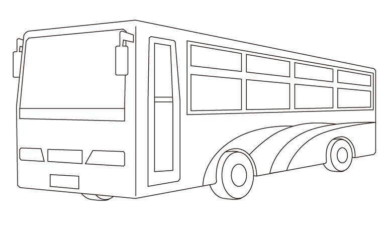 バスのぬりえ