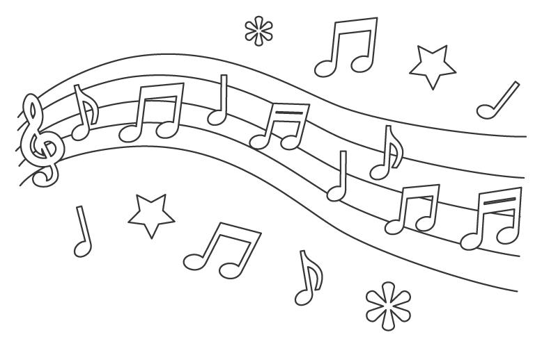 音楽・メロディのぬりえ