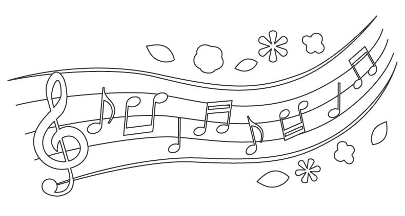音楽・音符のぬりえ