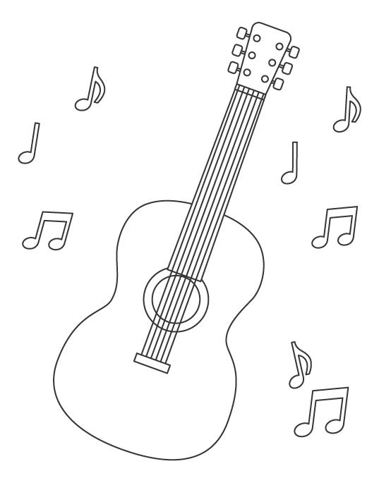 ギターのぬりえ
