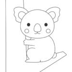 かわいいコアラのぬりえ