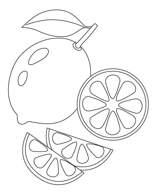 レモン(檸檬)のぬりえ