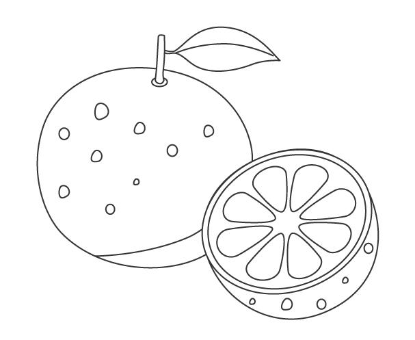 果物・オレンジのぬりえ