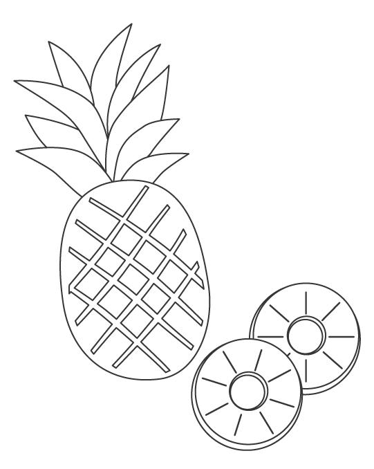 パイナップルのぬりえ