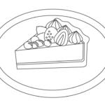 タルトケーキのぬりえ