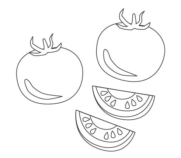 野菜・トマトのぬりえ