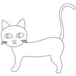かわいい猫のぬりえ02