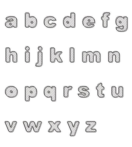 アルファベット(小文字)のぬりえイラスト04