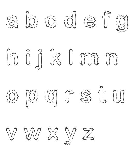 アルファベット(小文字)のぬりえイラスト05