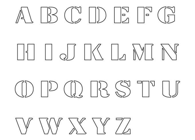 アルファベット(大文字)のぬりえイラスト