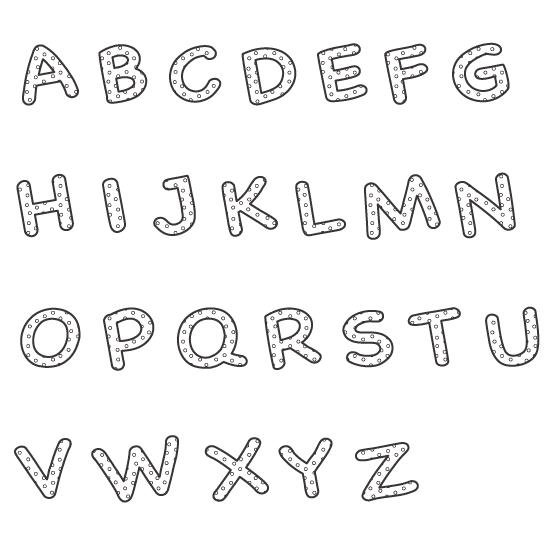 アルファベット(大文字)のぬりえイラスト02