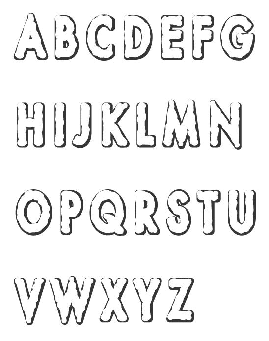 アルファベット(大文字)のぬりえイラスト03