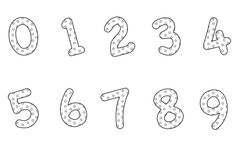 数字のぬりえイラスト02