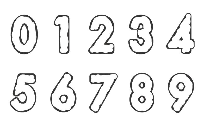 数字のぬりえイラスト03