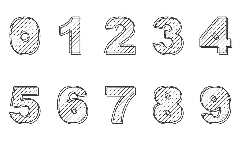 数字のぬりえイラスト04