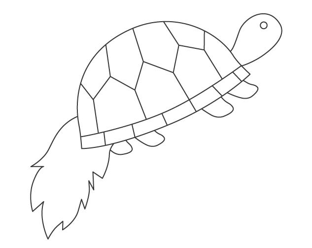 亀のぬりえイラスト