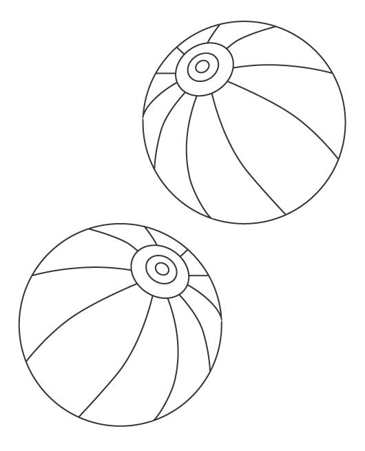 紙風船のぬりえイラスト