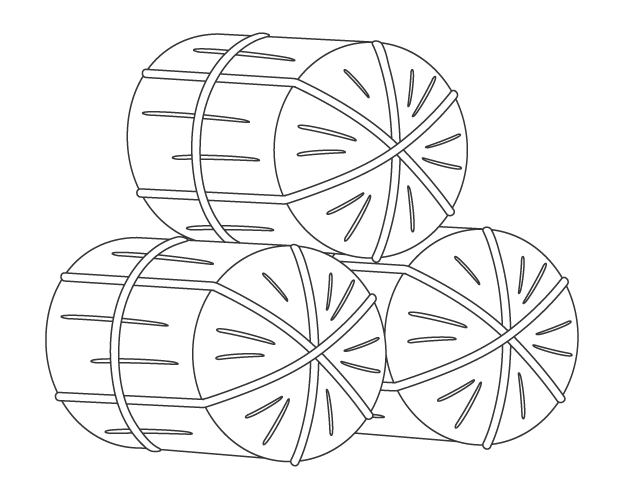 米俵のぬりえイラスト