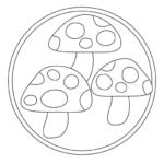 キノコのぬりえイラスト02